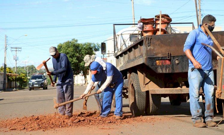 Tapa-Buracos: Prefeitura intensifica  trabalho em toda cidade